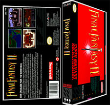 Final Fantasy 2 - SNES Reproduction Art Case/Box No Game.