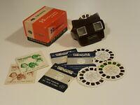 Vintage Brown Bakelite View Master Boxed & Reels