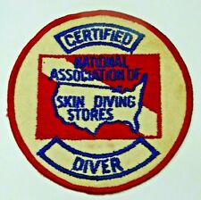 Scuba Certified Diver Patch National Association of Skin Diving Stores
