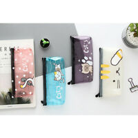 Kitten Cats See Through Transparent Plastic Pencil Cases Cosmetics Make Up Bags