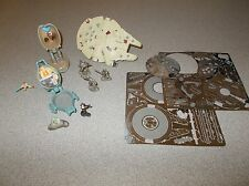 Small lot miscellaneous Star Wars characters figurines toys and ships used