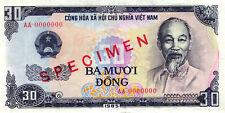 03 Vietnam P95s 30 Dong 1985 SPECIMEN aUNC