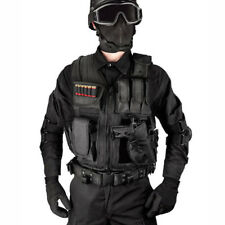 Tactical Vest BLACK Large Military Special Forces Swat Battle Police Hunting