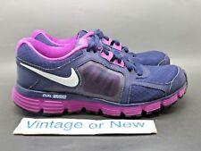 Women's Nike Dual Fusion ST2 Imperial Purple White Running 454240-500 sz 6.5