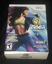Zumba Fitness 2 Nintendo Wii Exercise Work Out Games with belt BRAND NEW L@@K