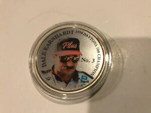 Dale Earnhardt 1998 Daytona 500 Champion Silver Coin With Case #158