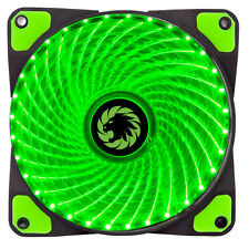 Game Max Mistral 32 x Green LED 120mm Fan PC 12cm Case Fan High Performance