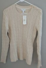 Chatter club Women Sweater long Sleeve Beige Metallic