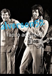 ELVIS PRESLEY & CHARLIE HODGE B/W PHOTO - ANAHEIM, CA - NOVEMBER 30, 1976