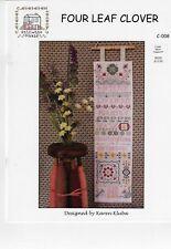 Rosewood Manor -Four Leaf Clover C-008-Cross stitch Pattern Karen Kluba -New