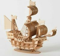 Sailing Ship Toys 3D Wooden Puzzle Toy Assembly Model Kids  Educational Gift