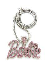 "Nicki Minaj Barbie Pendant With 4mm 18"" Franco Chain Necklace"