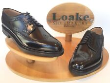Loake Sovereign 'Black' Brogue Shoes UK Size 9