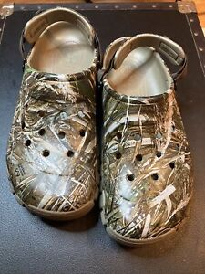 NEW CROCS BAYA Realtree Extra Camo Clogs Slip On Shoes : Mens Size 12 206517-260