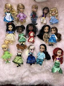 Disney animators 15 mini doll collection 1st edition set 2015 Never Played With