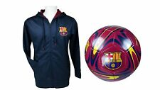 FC Barcelona Official Soccer Hoodie Jacket & Size 5 Ball Combo Adult 32 XL
