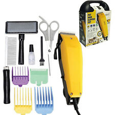 PROFESSIONAL PET HAIR CLIPPER SET ANIMAL GROOMING KIT DOG CAT FUR TRIMMER SHAVE