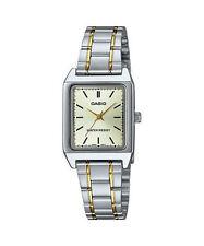 Casio Women's 2-Tone Bracelet Watch, Champagne Dial,  LTP-V007SG-9E