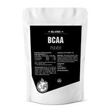 BCAA 500g reines PULVER - 100% BCAA Aminosäure + Bull-Attack Shaker Becher