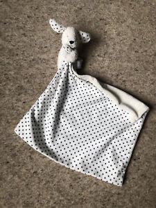 M&S MARKS SPENCER CREAM BLUE STARS DOG BABY COMFORTER BLANKET SOFT TOY 07953873