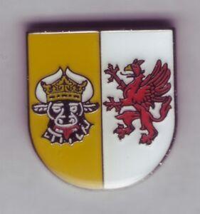 Mecklenburg Western Pomerania Small Emblem, Coat of Arms Pin, Badge, Pin
