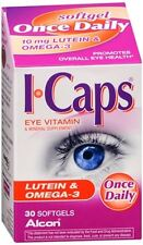 ICAPS Lutein - Omega-3 Softgels 30 Soft Gels (Pack of 3)