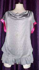 MISO GREY /PINK SLOUCH TOP SIZE 14 BNWT