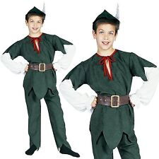 Medieval Robin Hood Peter Pan Kids Boy Child World Book Week Fancy Dress Costume