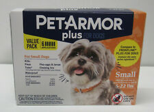 PetArmor Plus Dog Flea and Tick Squeeze on Treatment Small Dogs 5-22 Lbs 6 Tubes