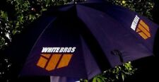 UMBRELLA with White Brothers Racing Logo is great for shade or rain protection