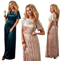 Plus Size Women evening velvet Dress Formal Prom High Waist Bridesmaid ZG9