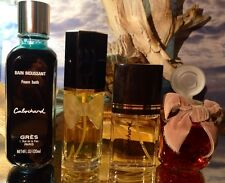 *CABOCHARD by GRES* *4 FL OZ FOAM BATH-2 FL OZ PARFUM & EDT'S *RARE VINTAGE SET*