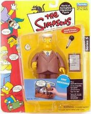 The Simpsons Kent Brockman World of Springfield Action Figure Playmates Toys NIB