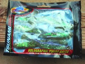 """6 PACKS Tsunami Pro Holographic 4""""Swim Baits with 6 Per Pack Model PTM4-10"""