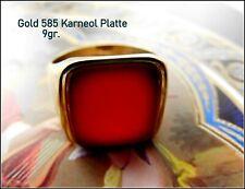 Art Déco Ring Siegelring Gold 585 Gewicht 9 gr. Karneolplatte gem Gr.57 - FM
