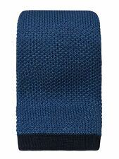 Uni blau Baumwolle Krawatte