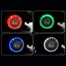 LongLife 15 Mode Solar Energy LED Car Auto Flash Wheel Tire Valve Cap Neon Light