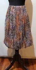 *Size 1 Morrissey Blue & Brown Crepe Silk Skirt- Minor Flaw