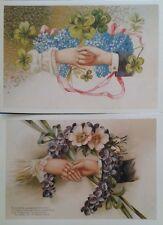 Dachbodenf. 2 Ansichtskarten Nostalgische Karten Liebe/Verlobung/Hochzeit Set 2