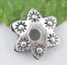 42Pcs Tibetan Silver Nice Flower Bead Caps Findings 9x3mm (Lead-free)
