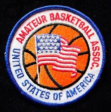 UNITED STATES OF AMERICA AMATEUR BASKETBALL ASSOCIATION PATCH EMBROIDERED