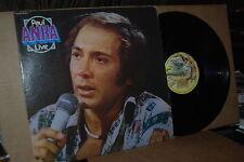 PAUL ANKA: LIVE; 1975 BARNABY 6013 VG++ LP; NOT ON CD; BEATLES SONG COVER