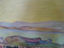 GREINER Alois, *XIX.Jhd. Seenlandschaft mit Booten