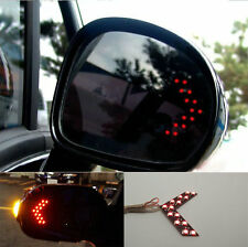 New Universal Red LED Mirror Arrow Lights 14 LED Turn Signal Panel
