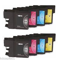 8x Cartuchos de inyección tinta no-oem alternativa para BROTHER LC970-2 juegos