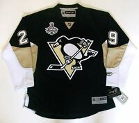 MARC ANDRE FLEURY PITTSBURGH PENGUINS 2009 CUP REEBOK PREMIER HOME JERSEY