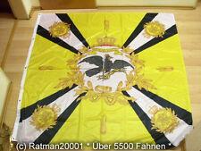 Fahnen Flagge Standarte Gelb mit Kreuz Preußen Premium - 150 x 150 cm