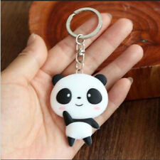 Cartoon Panda Keychain Silicone Keyring Bag Key Pendant Charms Collectibles Gift