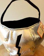 NWT/NEW POTTERY BARN KIDS HALLOWEEN Silver Superhero Treat Bag for costume
