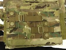 2 TACTICAL MOLLE PALS WEBBING ACCESSORY ADAPTER T-BAR w/ SNAPS HORIZONTAL LOOP